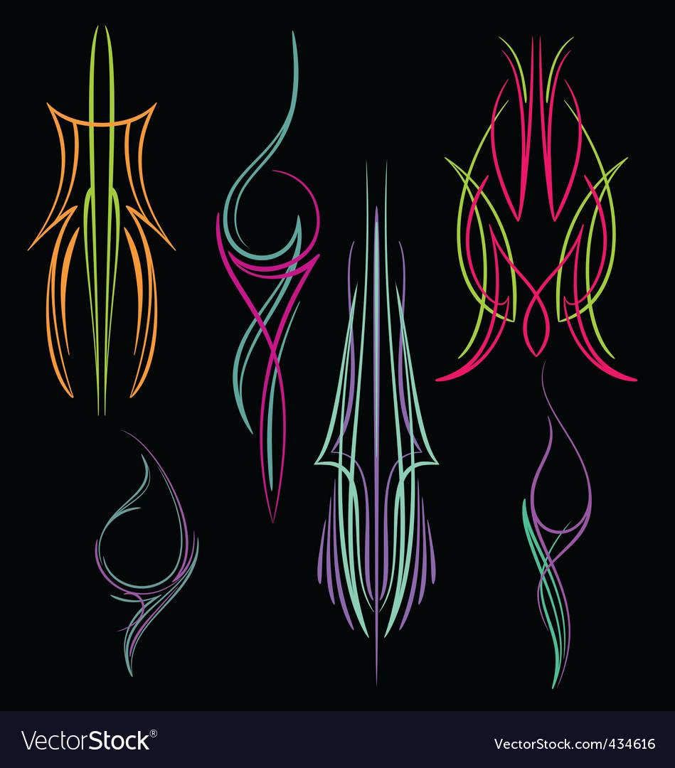 Pinstripe011 vector image