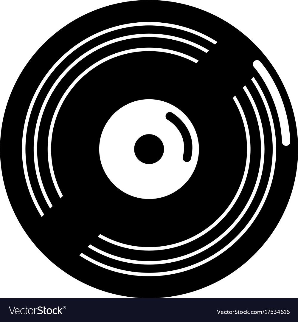 Vinyl record icon simple style