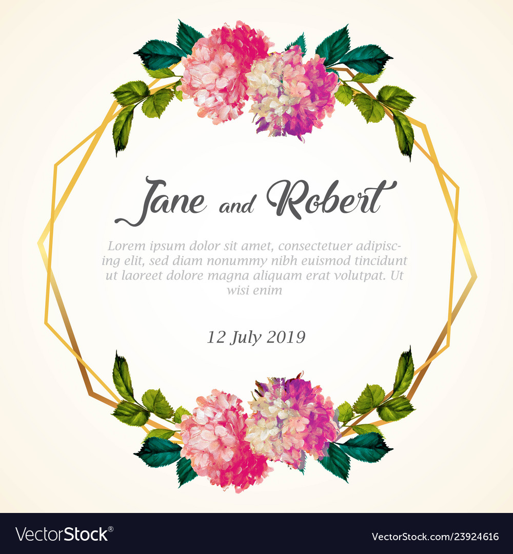 Wedding Invitation Template Royalty Free Vector Image