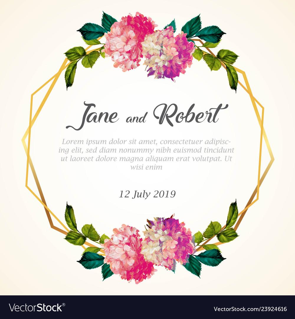 Wedding invitation template Royalty Free Vector Image