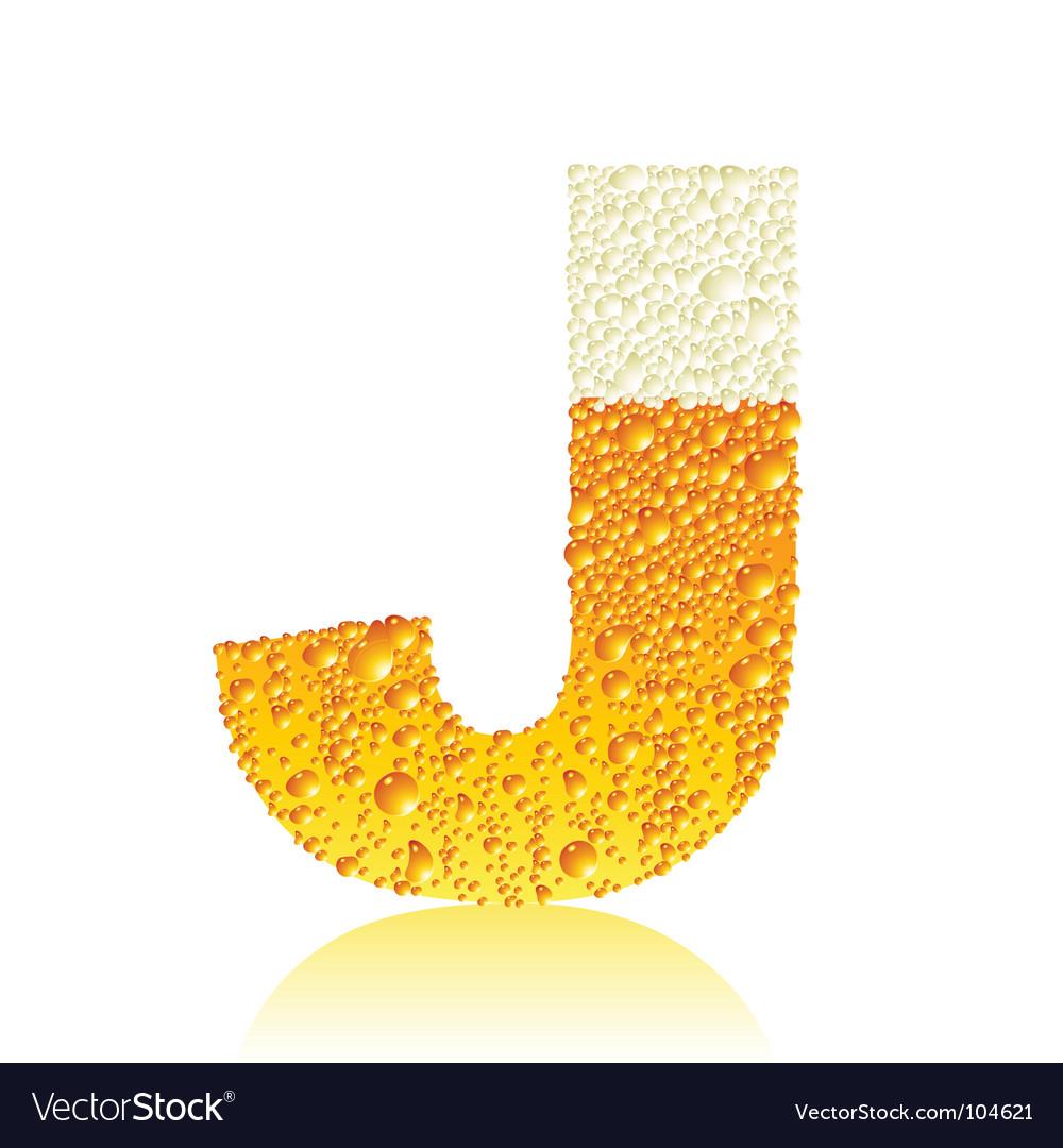 Alphabet beer j vector image