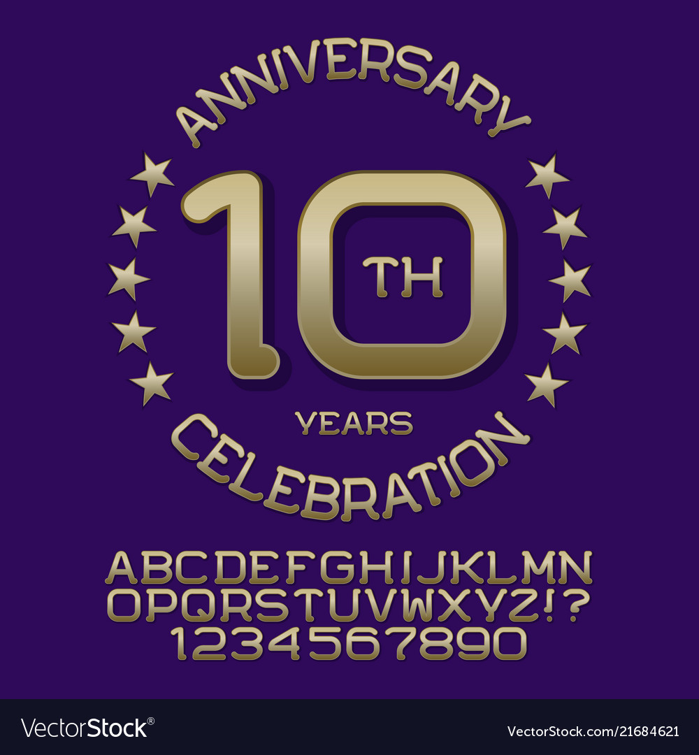 Anniversary celebration kit golden letters numbers