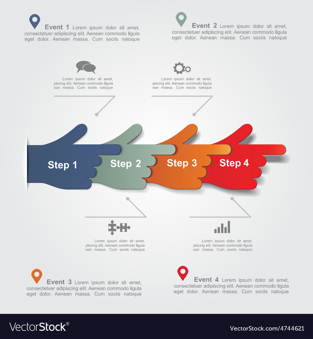 Infographic report template with hands
