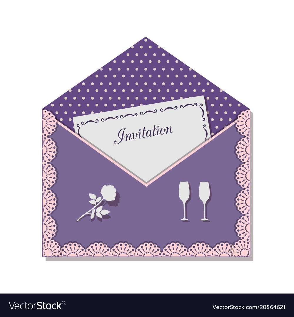 Invitation card for a romantic meeting decorated vector image stopboris Choice Image
