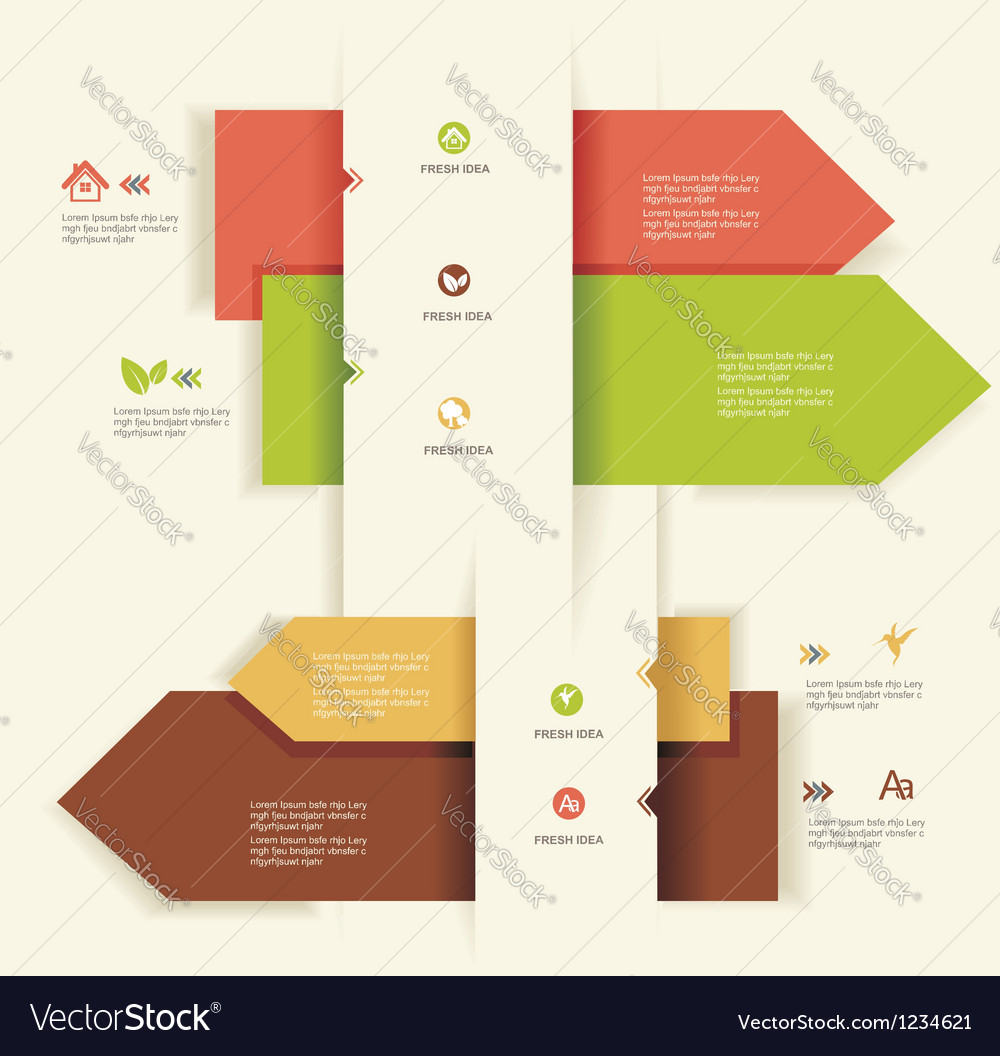 Modern Design templateUse for infographicsnumbered vector image
