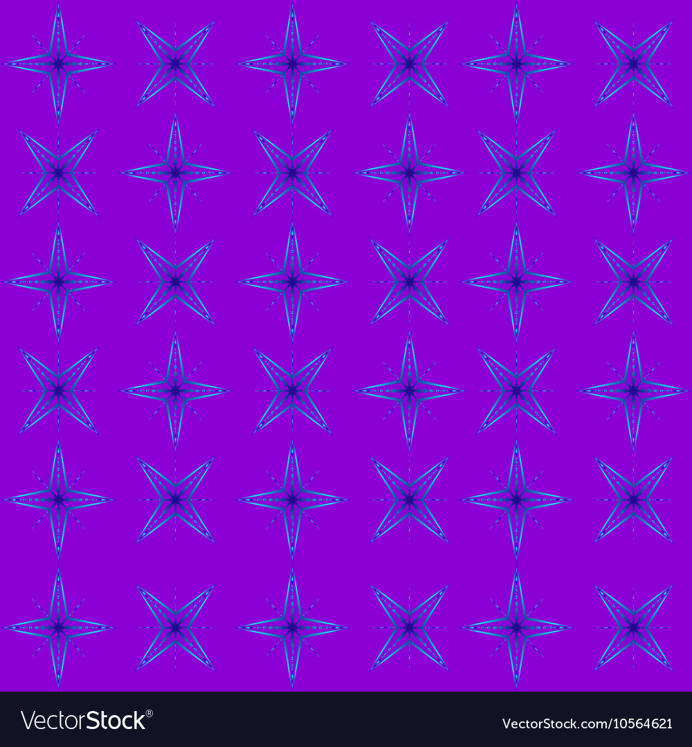 The geometric pattern of blue stars