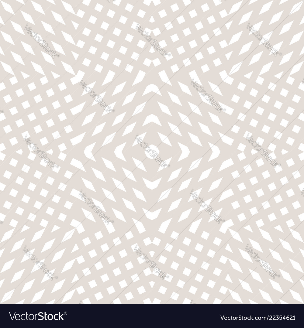 White and beige geometric seamless pattern with