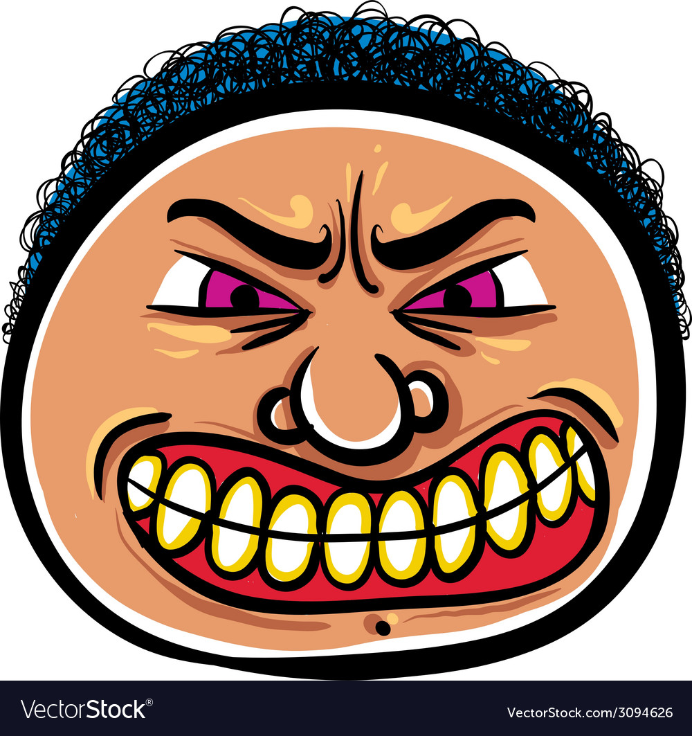 angry cartoon face royalty free vector image vectorstock rh vectorstock com angry cartoon face meme angry cartoon face pictures