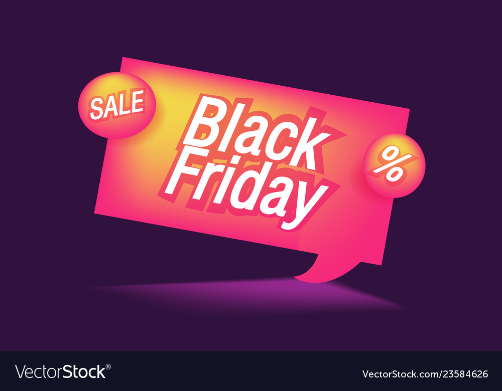 Black friday sale banner advertising