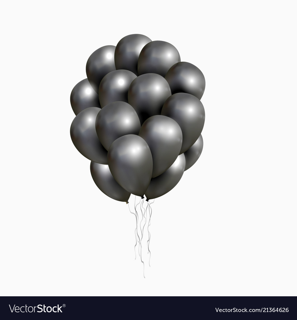 Bunch of black glossy balloons