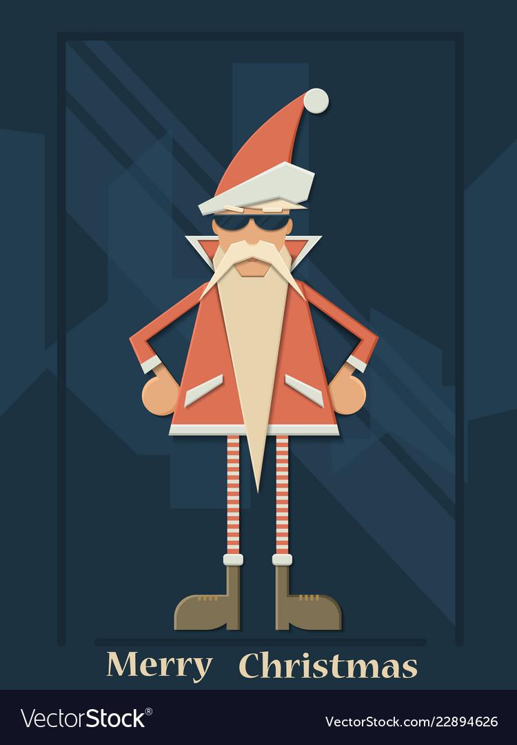 Christmas santa claus hipster