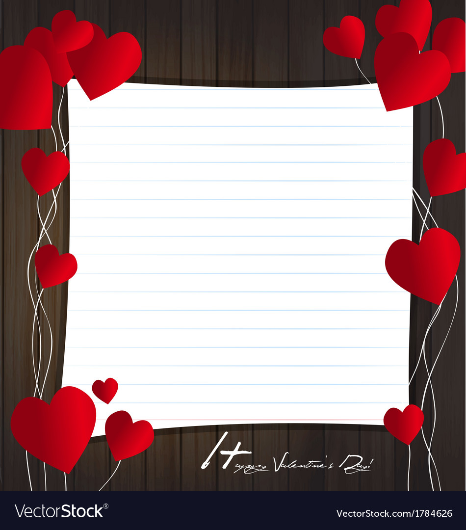 Frame card valentine Royalty Free Vector Image