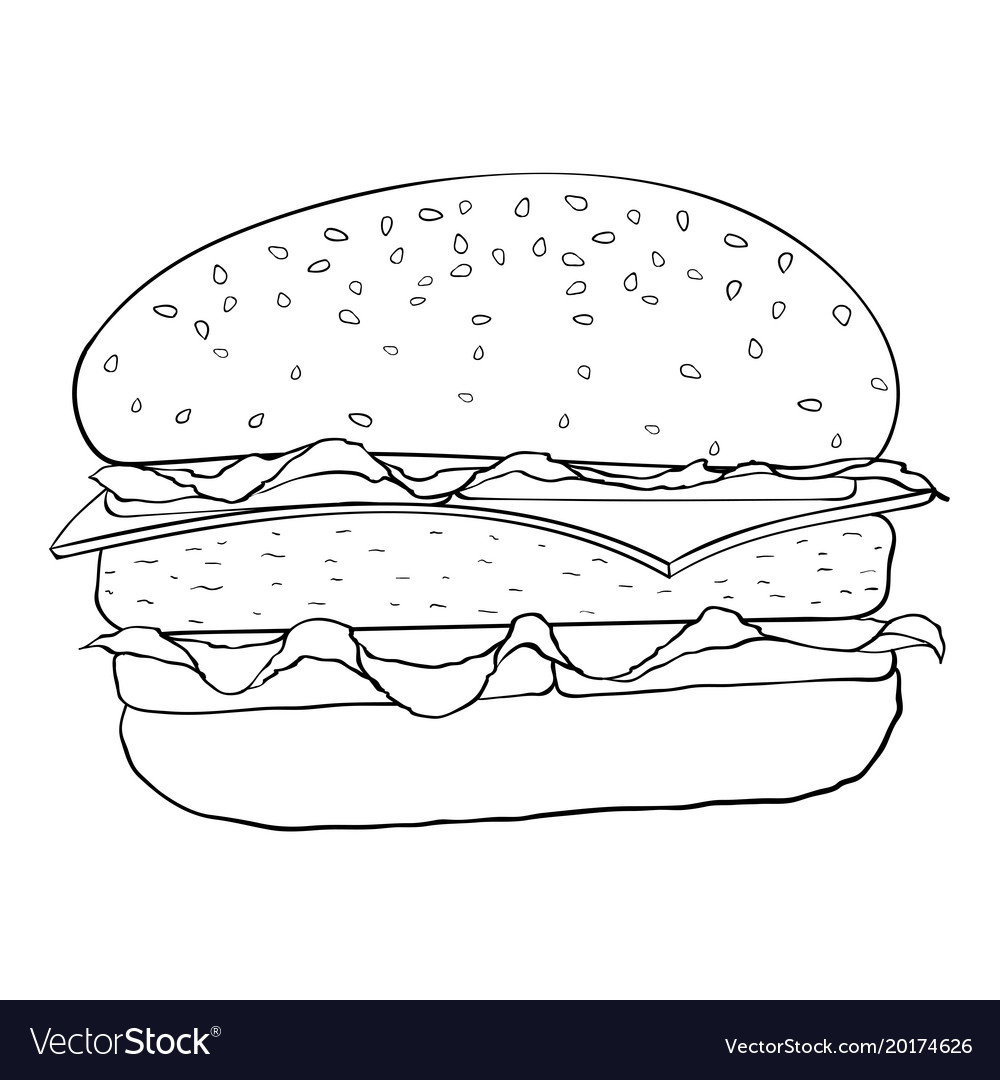 Картинки бургеры для распечатки компоновка