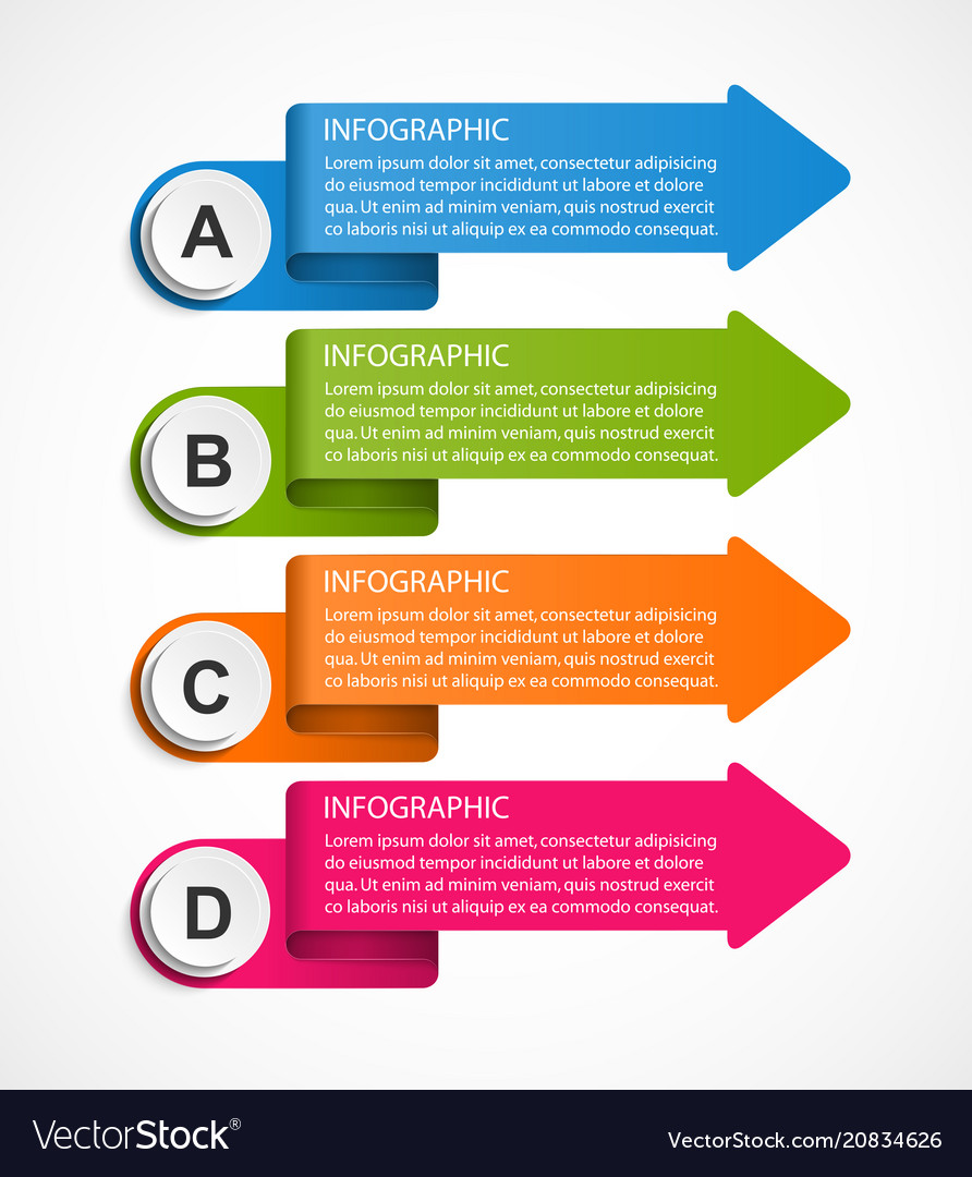 Infographic template for business presentations