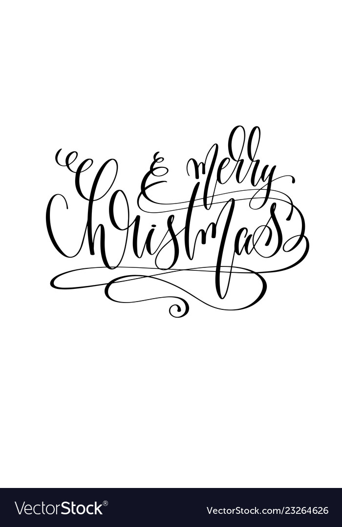 Merry christmas - hand lettering inscription text