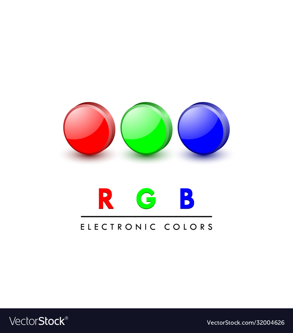 Rgb icons vector