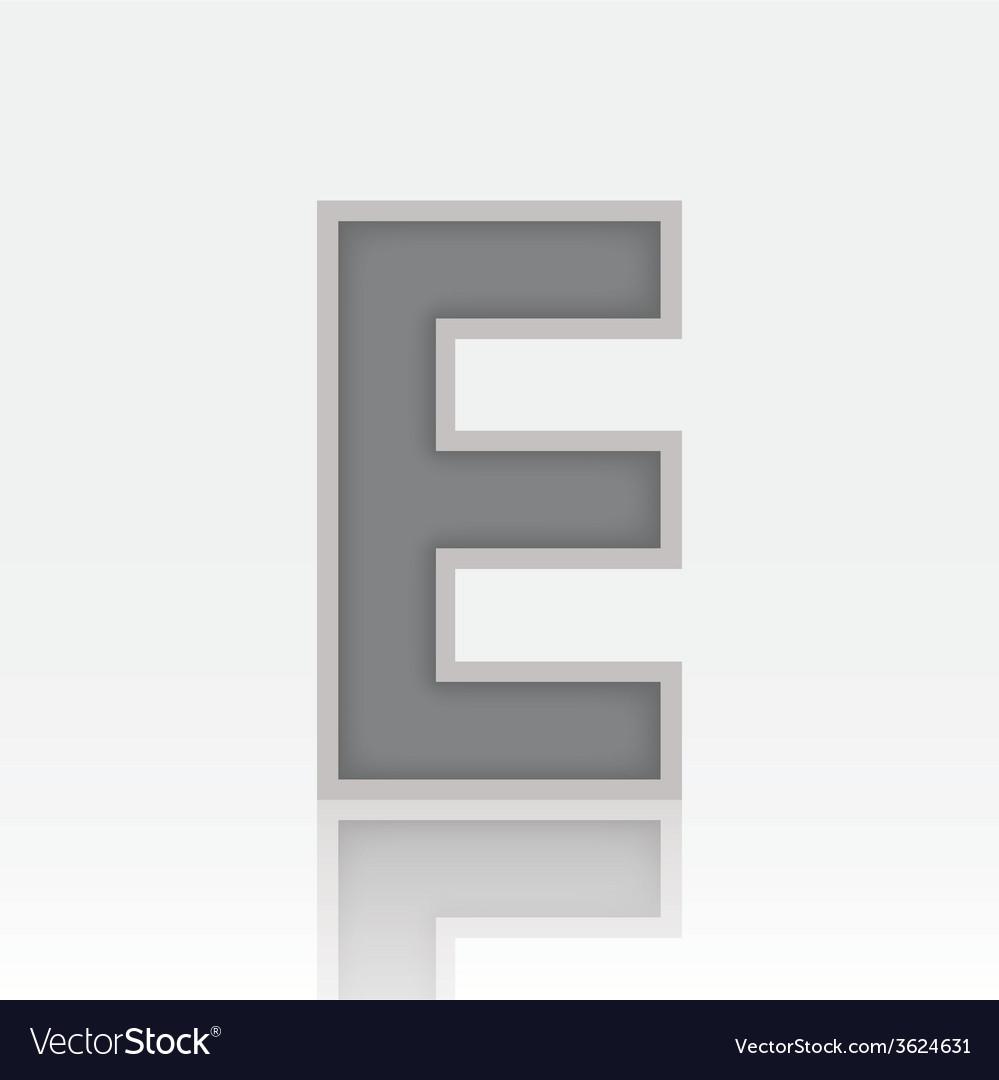 Alphabet E