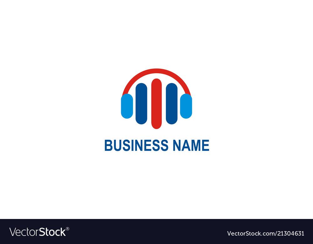 Business music equalizer logo