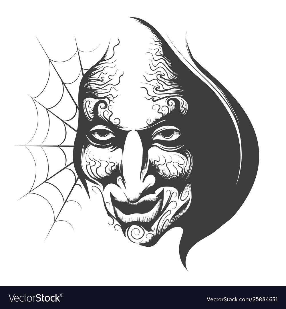 Evil wizard face