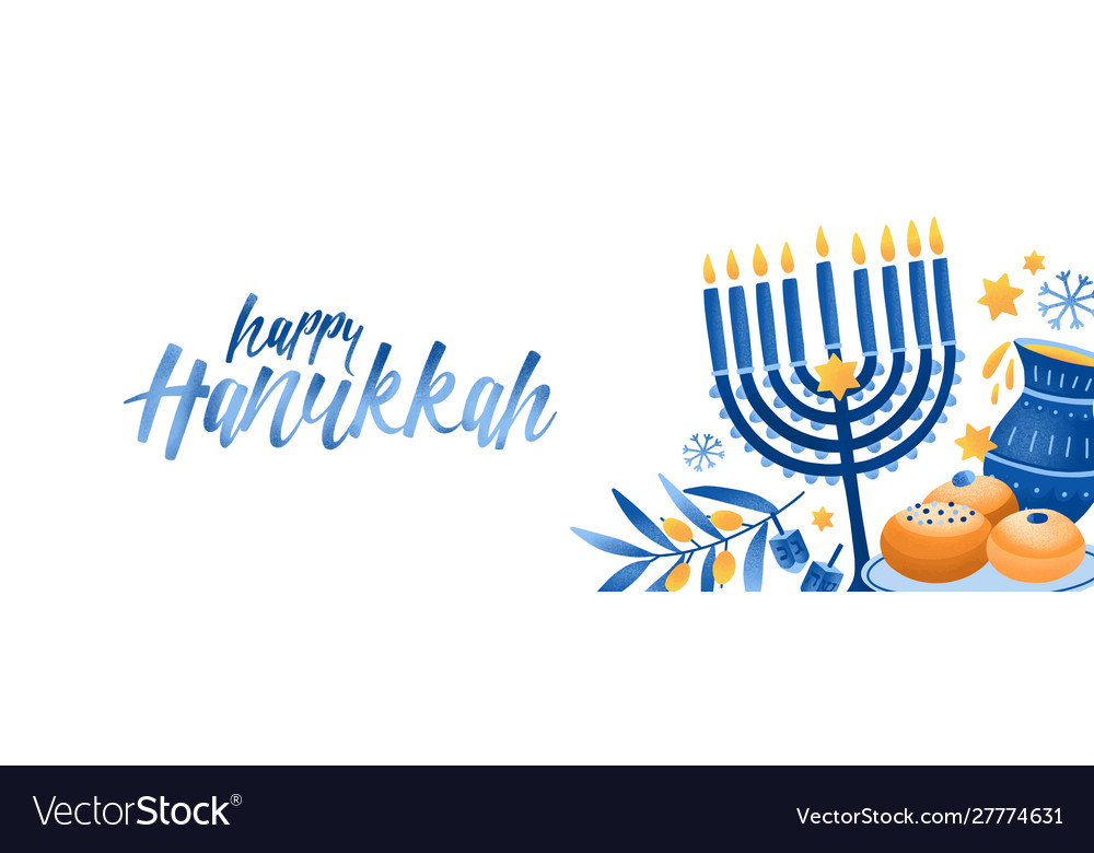 Jewish traditional holiday hannukah background