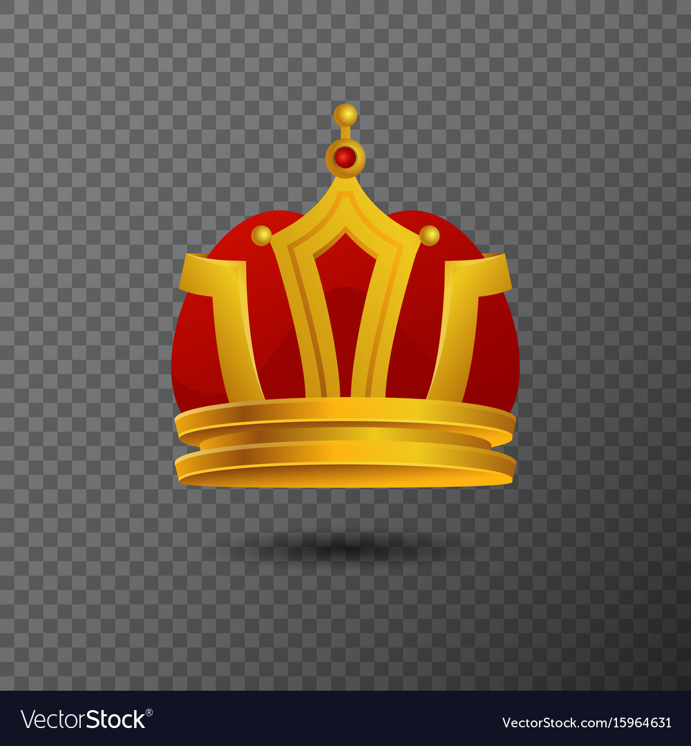 Monarchy golden crown icon isolated on