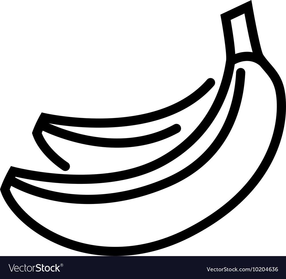 Banana line icon