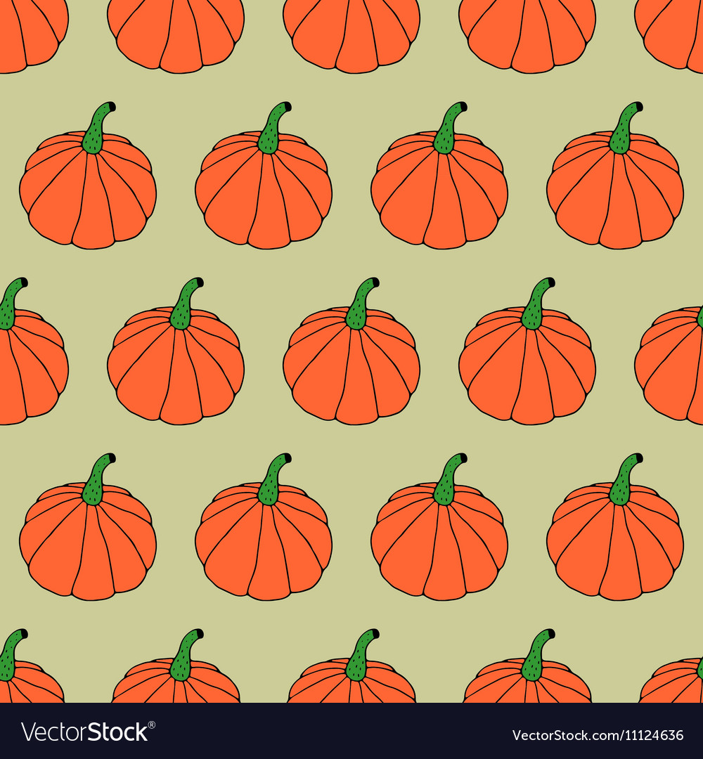 Doodle Halloween Pattern vector image