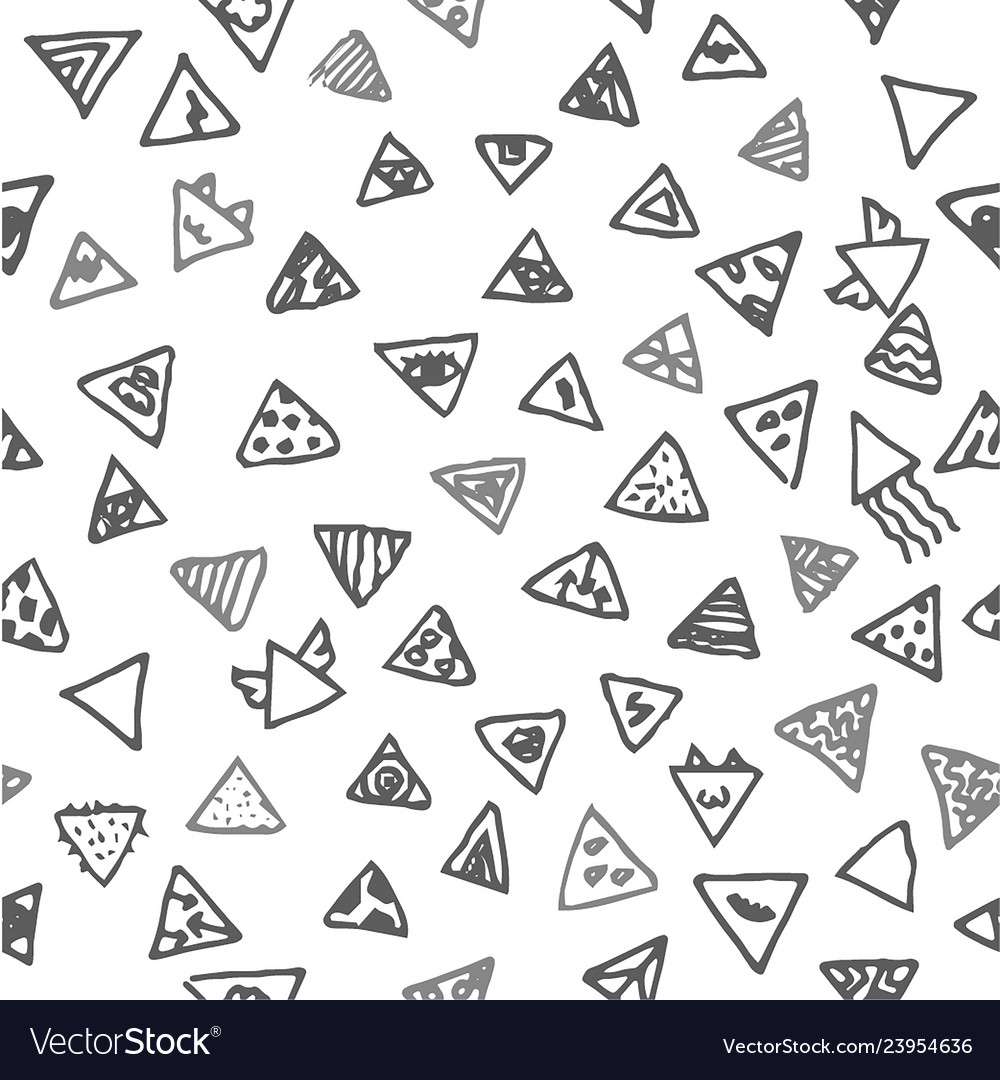 Hand drawn sketch of abstract triangle