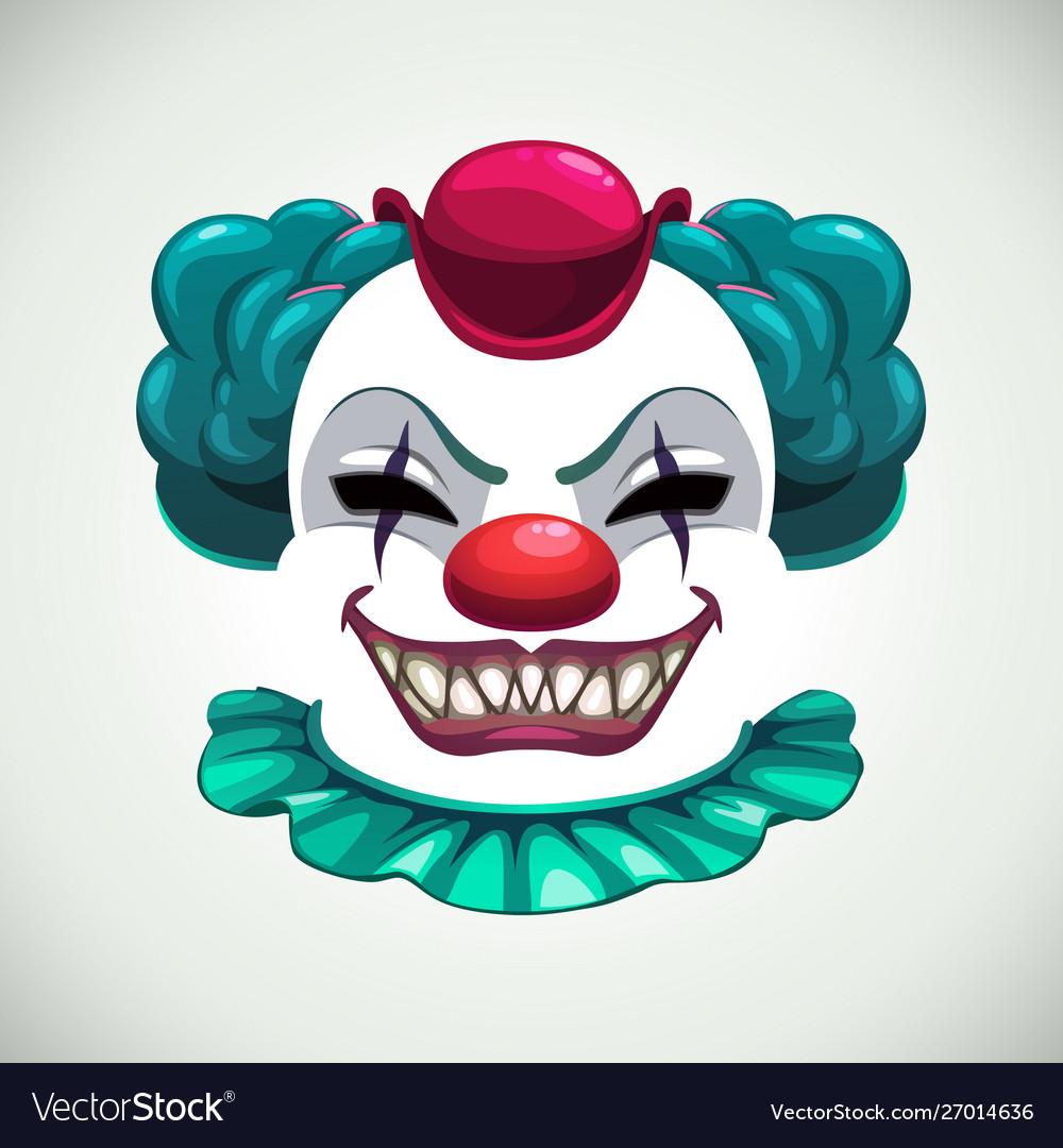 Scary circus concept creepy clown mask