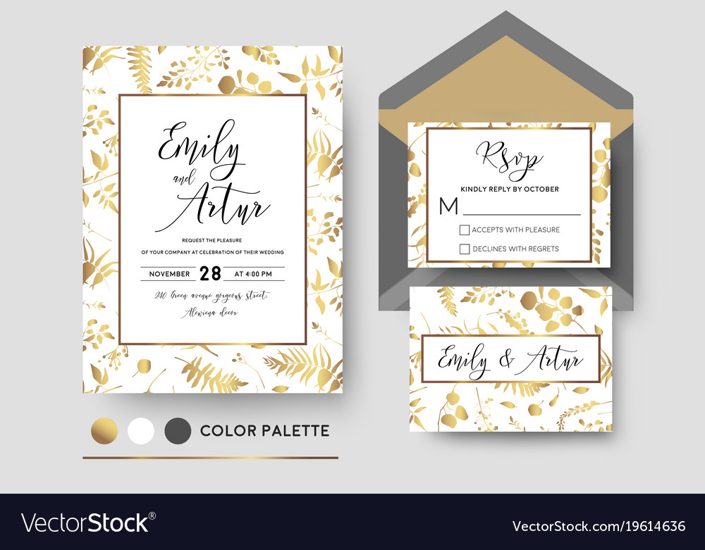 Wedding stylish invite invitation rsvp card design