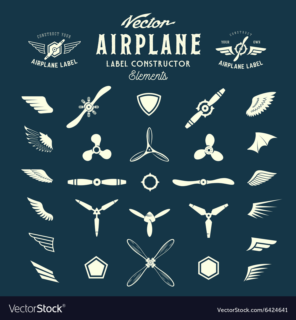 Abstract Airplane Labels or Logos