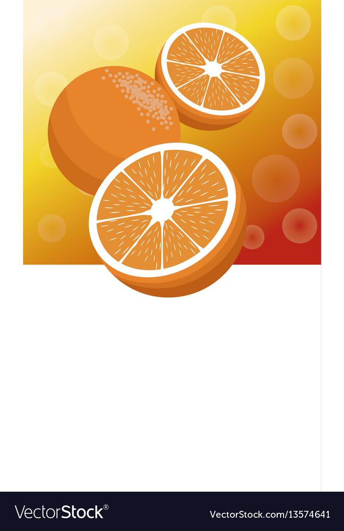 Brochure orange fruit template