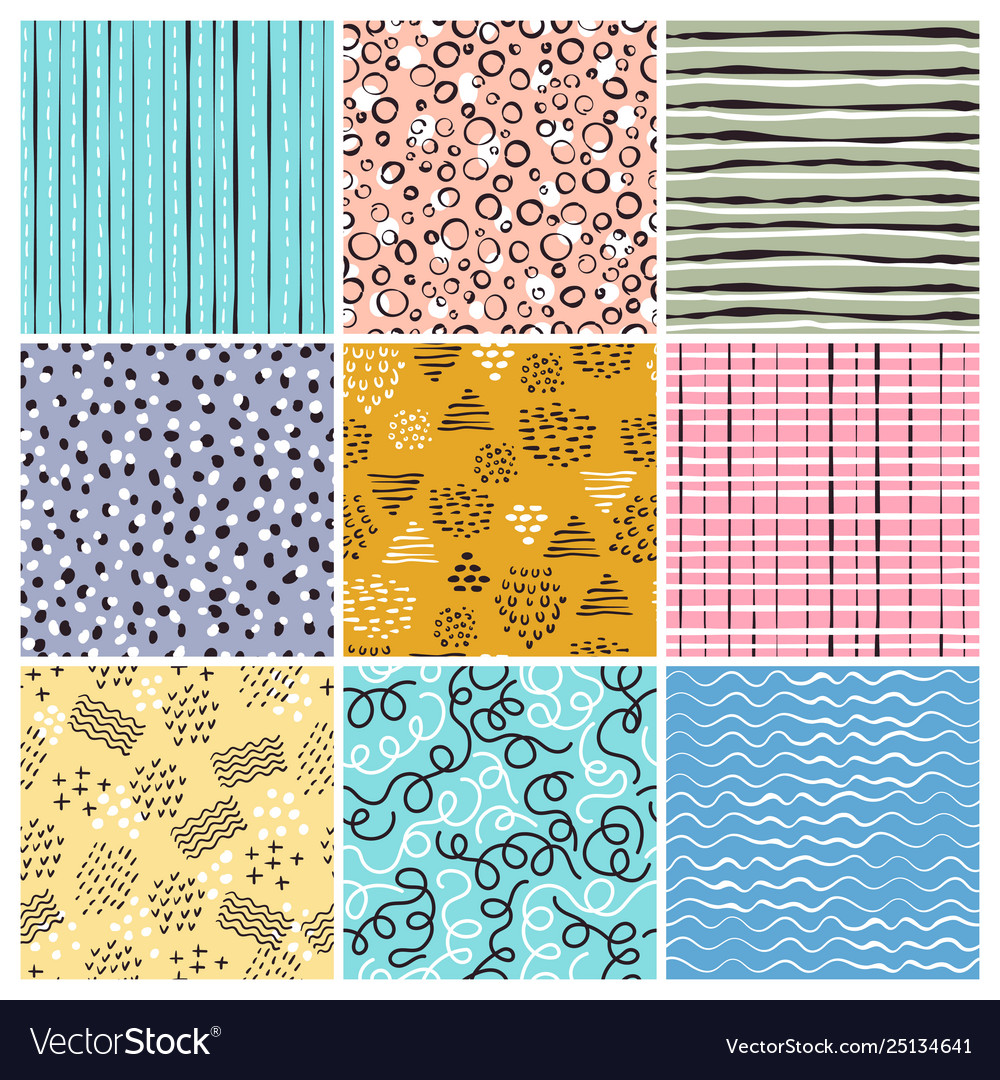 Childish style pattern simple lines abstract
