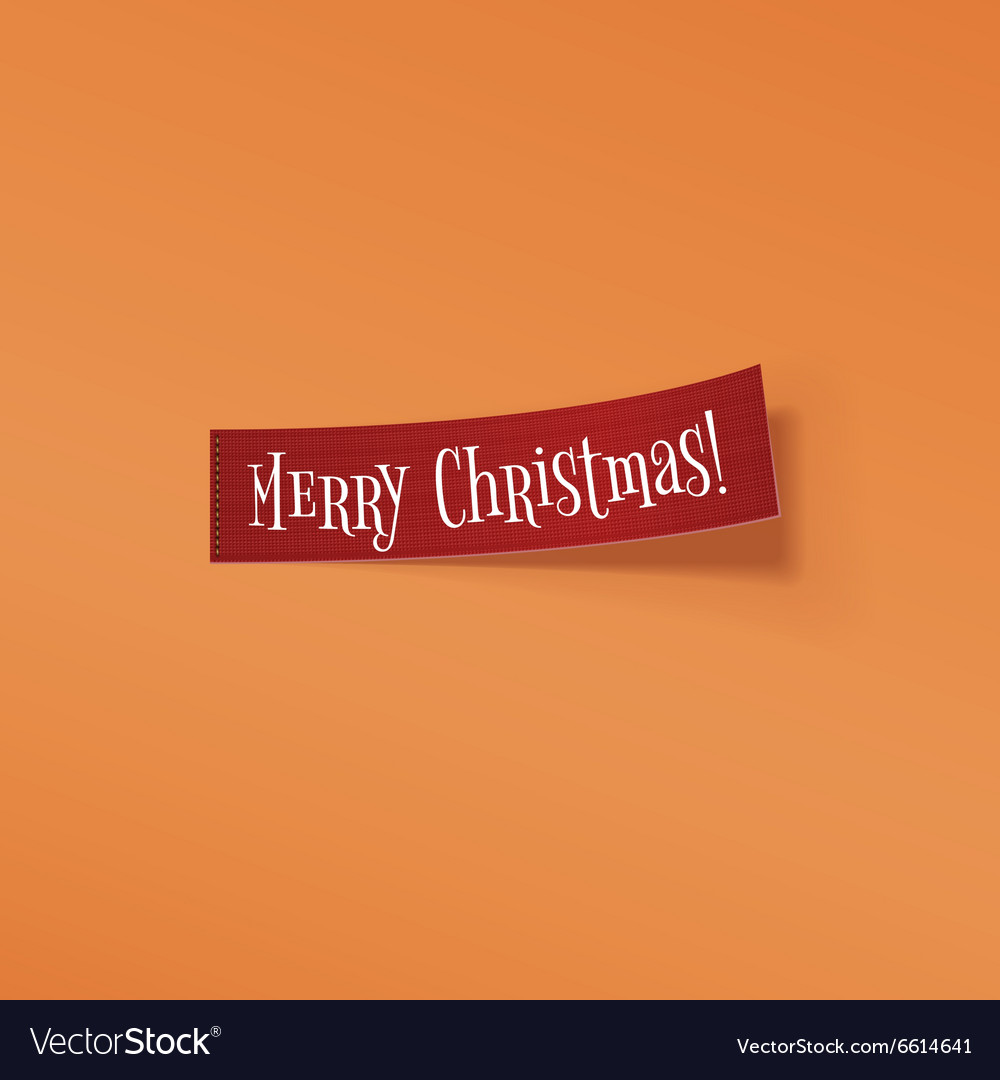 Christmas red realistic curved Ribbon vector image
