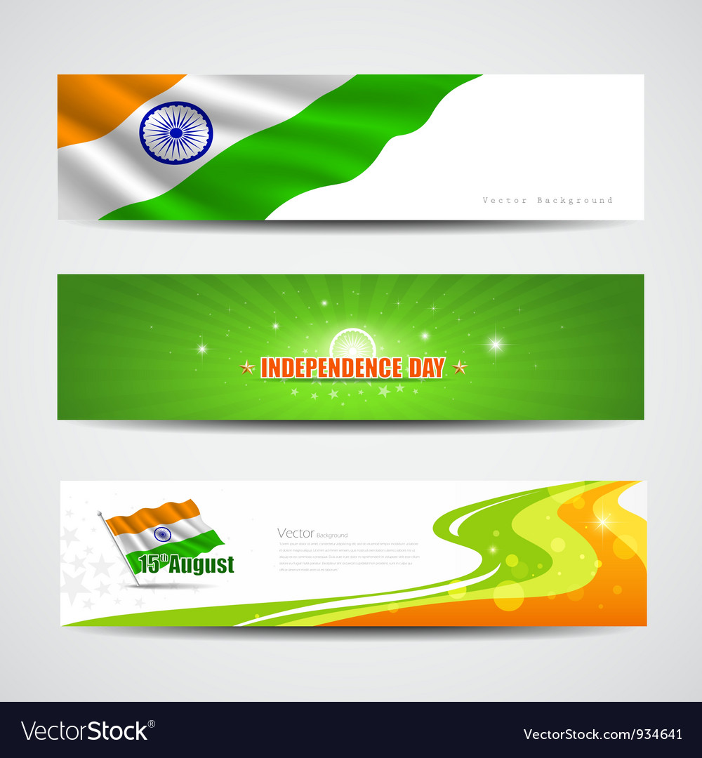 India independence day banner background