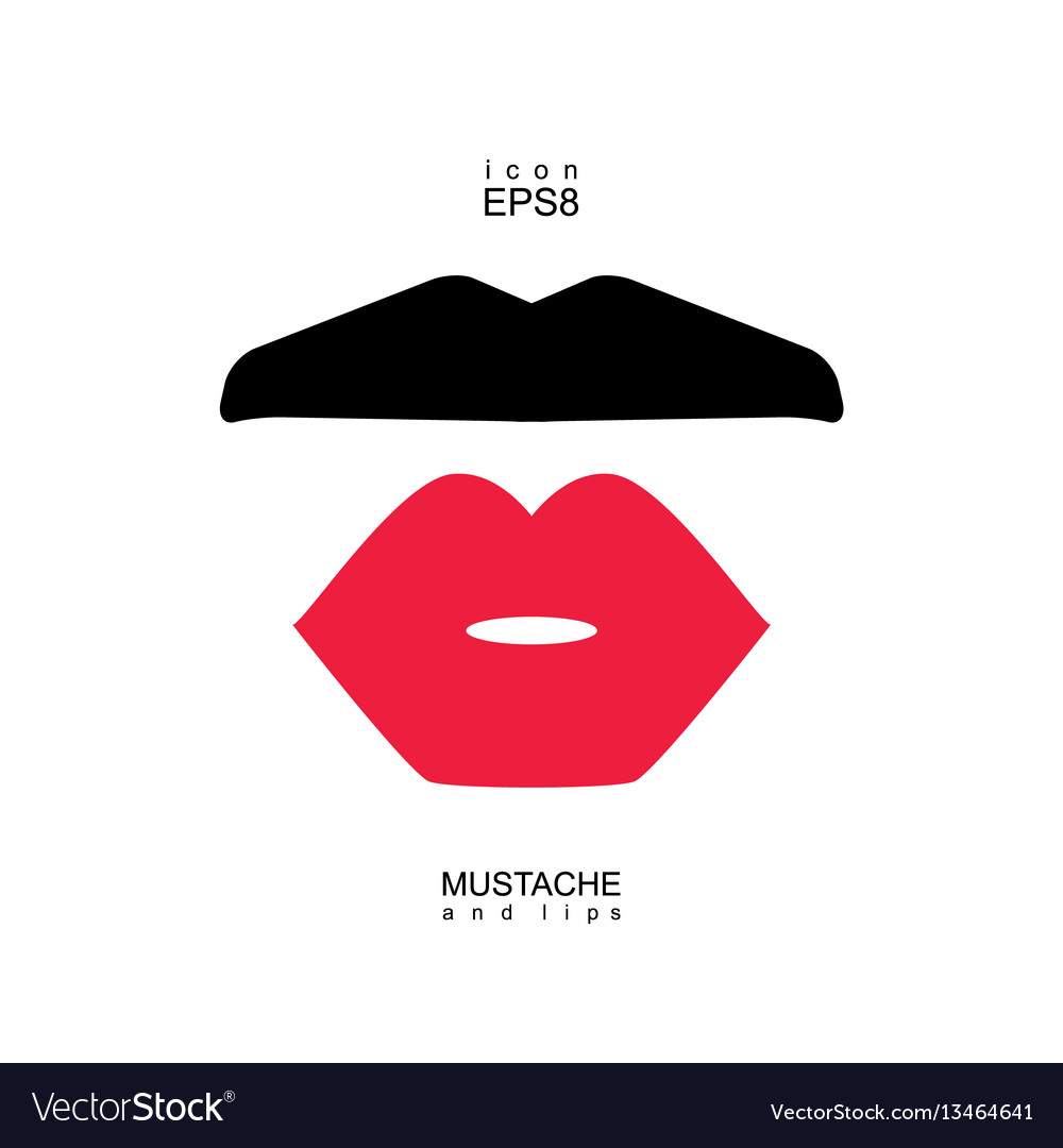 Ladies and gentlemen picture lips and mustaches