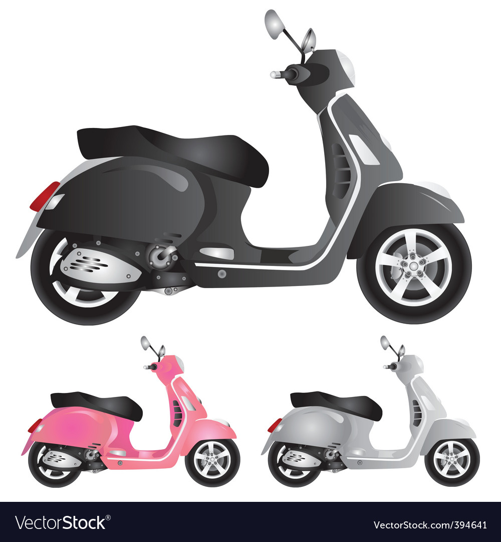 Scooter illustration vector image