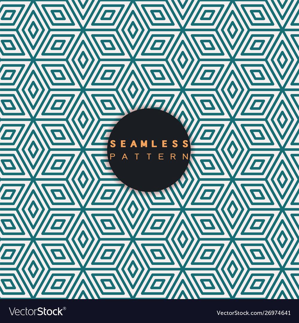 Seamless pattern repeating geometric tiles