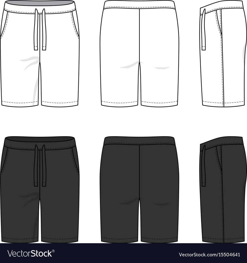Sports shorts in white and black colors