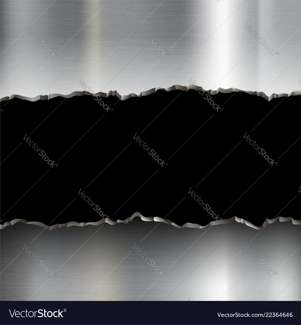 Broken stainless steel plate