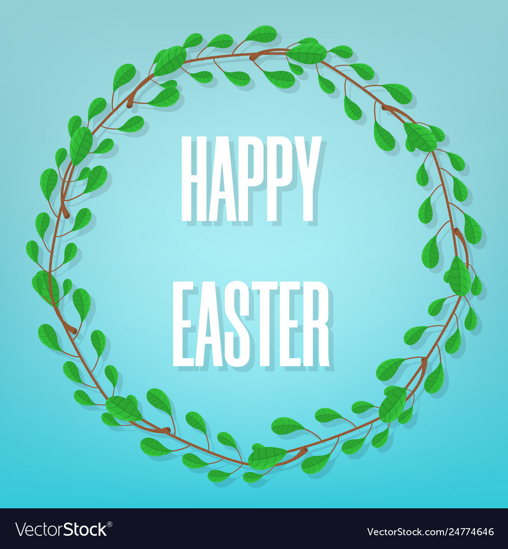 Easter greeting card floral frame