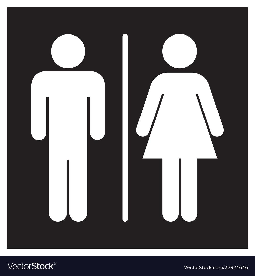 Female Bathroom Sign Icon Royalty, Men And Women Bathroom Sign