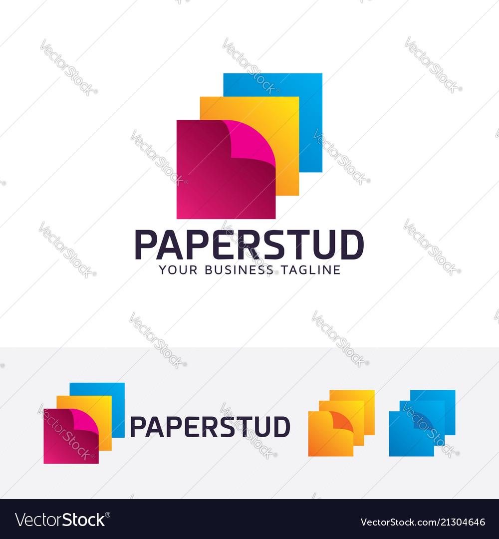 Paper studio logo design