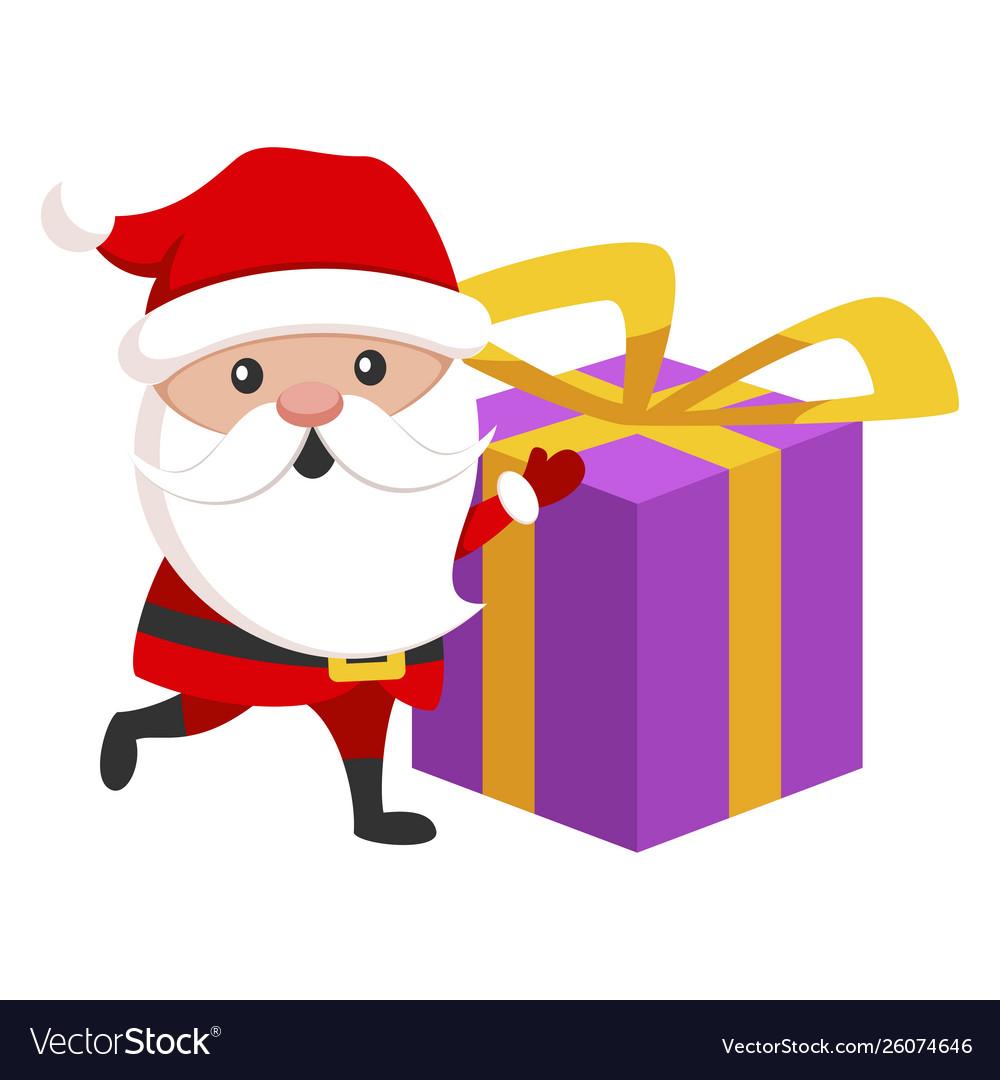 Santa claus icon christmas holiday funny