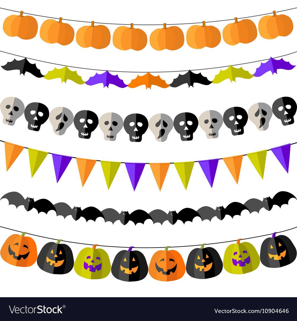 Set of Halloween buntings