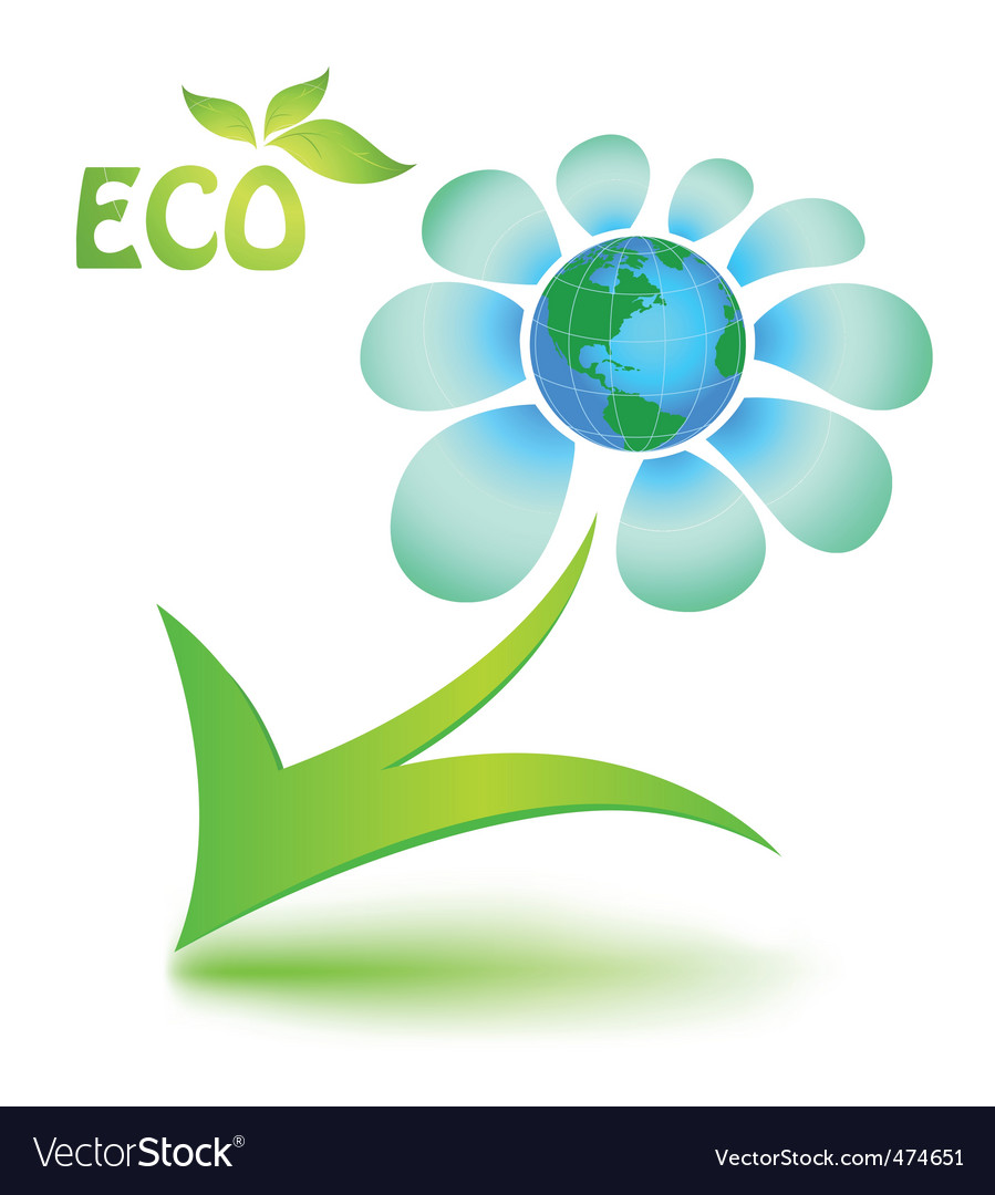 Ecological Symbol With Mother Earth Royalty Free Vector