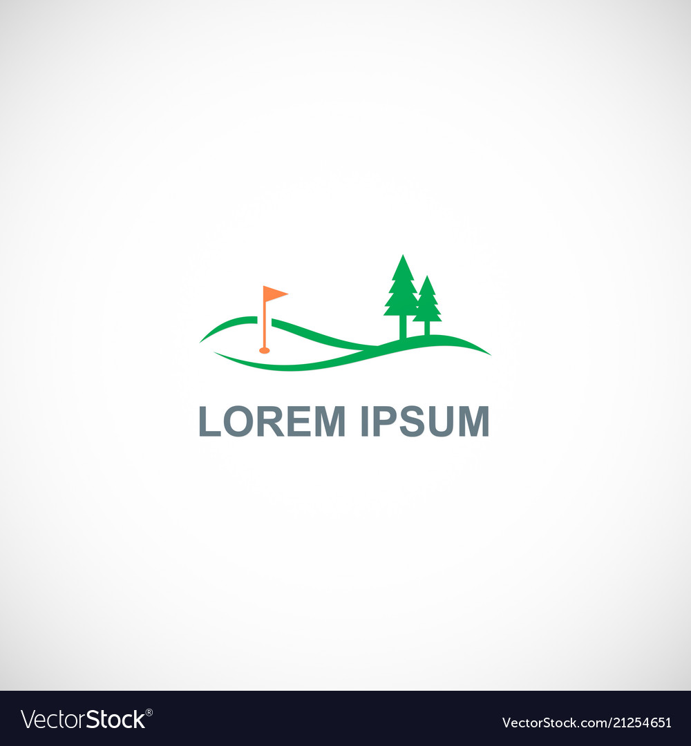 Golf pine tree landscape logo