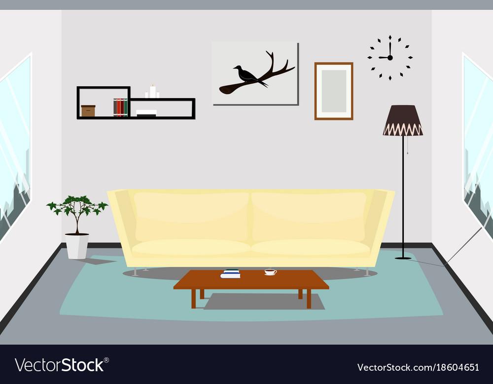 Interior living room design indoor