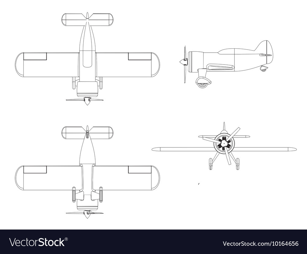 Isolated propeller plane set