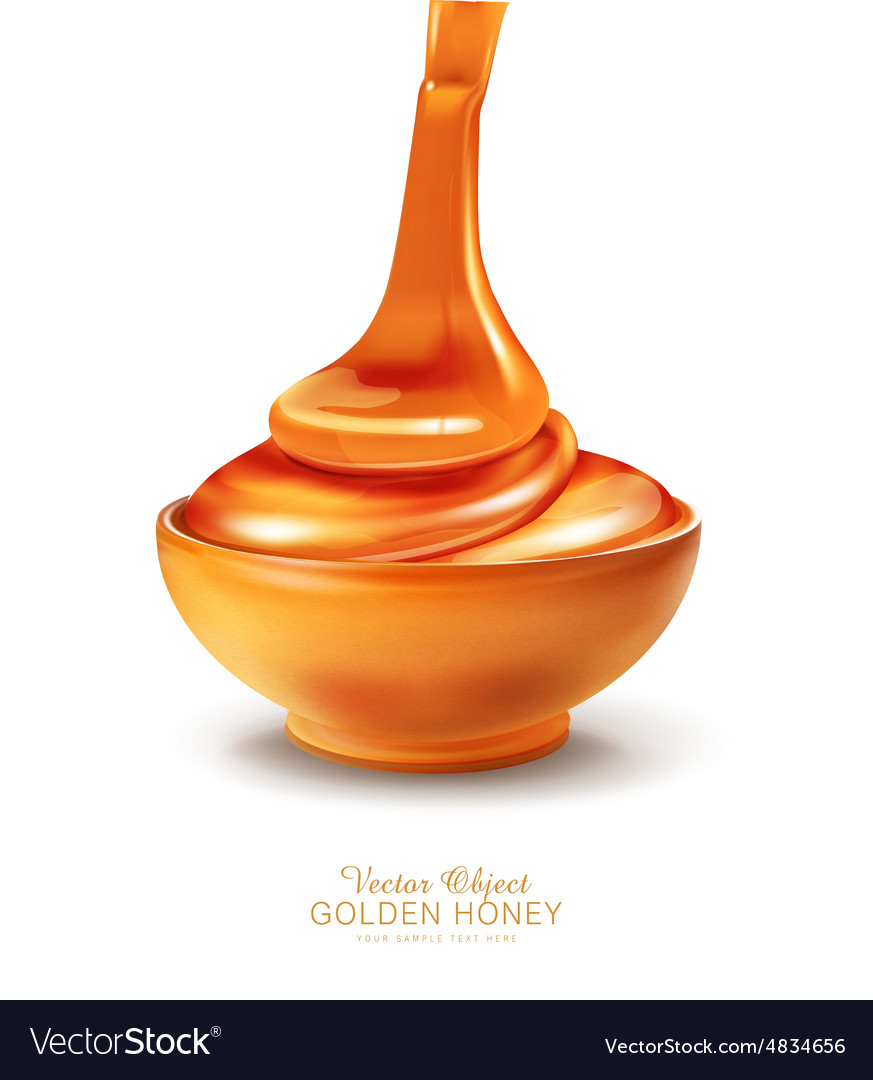 Object - a bowl is filled with honey